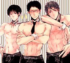 OOOOO HOOO HOOOOOO  I like it! Iduki, Hyuga, and Teppei Kuroko no Basket