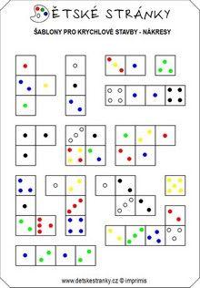 sablony-krychlove_stavby3 K 1, Periodic Table, Math, Periodic Table Chart, Early Math, Math Resources
