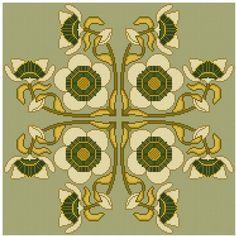 Passion Flower cross stitch pattern set PDF. $4.99, via Etsy.