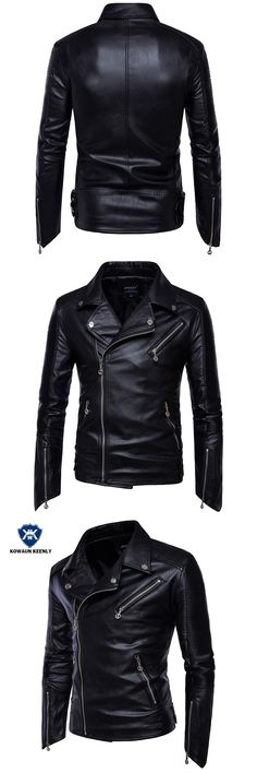 Men's Black Leather Jacket Biker PU Leather Jackets Punk Motorcycle Faux Leather Coat Plus Size 5XL Leather Blazer Overcoats