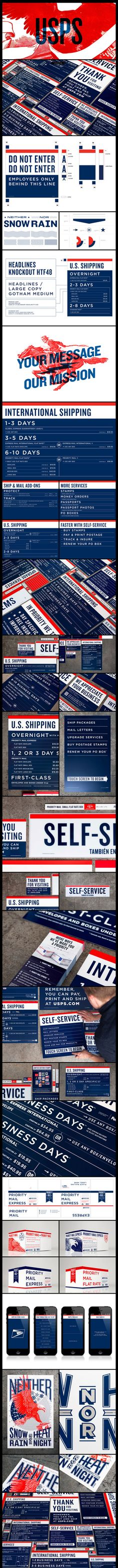 The USPS RE-branding that never was | Fantastic work by Grand Army