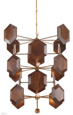 Buy the Currey and Company Brass / Stout Direct. Shop for the Currey and Company Brass / Stout Honeycomb 12 Light Wide Chandelier with Honeycomb Walnut Accents and save. Ceiling Decor, Ceiling Fixtures, Ceiling Lamp, Light Fixtures, Ceiling Lights, Pendant Lamp, Pendant Lighting, Chandelier, Shops