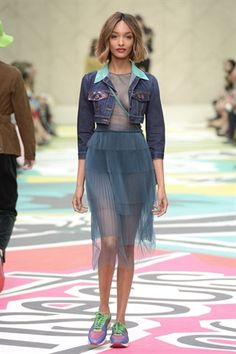 BURBERRY PRORSUM SS15 DENIM  Re-worked denim, denim with tulle, new denim sillhouettes, denim material combinations.