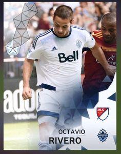 Octavio Rivero Vancouver Whitecaps (MLS) Silver Parallel Card 2016 Topps KICK