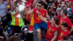 Fans have been celebrating since Sunday, when Spain team beat Italy 4-0 in the final in the Ukrainian capital, Kiev.