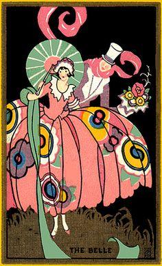 art deco: the belle. #artdeco #illustration #vintage