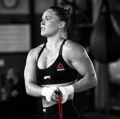 +ronda rousey skipping rope during her #UFC190 training camp. #andSTILL…