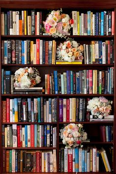 The two love reading, and the Book Barn, a bookshop that's part of the Bendooley Estate, was a lovely multi-functional space for the reception on day two! | Bouquets on Book Shelves | Hilary Cam Photography Wedding Shoot, Fall Wedding, Wedding Themes, Wedding Styles, Real Weddings, Unique Weddings, Country Estate, Celebrity Weddings, Wedding Details