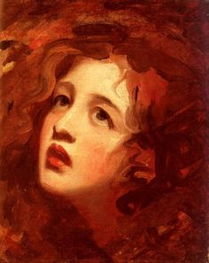 George Romney (1734-1802): Portrait Study of Emma Hamilton as Miranda