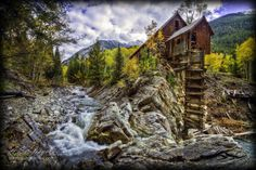 Crystal Mill Wooden Powerhouse located on Crystal River Colorado Stock Photo - 33691657 Colorado Lakes, Road Trip To Colorado, Basalt Colorado, Rio Grande National Forest, Carbondale Colorado, Red Rock Amphitheatre, Adventure Is Out There, Rocky Mountains, Places To Travel