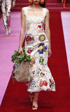 Dolce & Gabbana  Embroidered Midi Dress