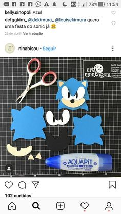 Sonic Birthday Cake, Sonic Cake, Sonic Birthday Parties, Sonic Party, Boy Birthday, Crafts For Kids To Make, Fun Crafts, Birthday Party Decorations, Party Themes