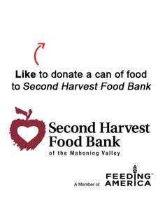We are donating a can to a food to the Second Harvest Food Bank of the Mahoning Valley for each Like on this pin! Like EatAtTGIFridays on Facebook and we'll donate another! www.facebook.com/EatAtTGIFridays