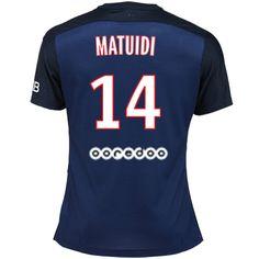 Maillot de foot PSG Domicile 2015/2016 (14 Matuidi) Bleu
