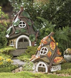 Our fairy houses and fairy garden sets are charming and fun. Discover all of our miniature fairy furniture for your fairy gardens. Welcome to a magical world. Garden Whimsy, Fairy Garden Houses, Gnome Garden, Fairy Gardening, Garden Cottage, Container Gardening, Garden Homes, Garden Grass, Fairies Garden