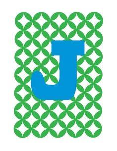 Monogram Cork Letters