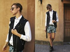totally love the vest...  raynfromthesky.blogspot.com  Cubus Vest, H Shirt, H Shorts, Dr. Martens Shoes