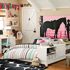 Equestrian Wall Mural! PBteen    I have to get this for my daughters room!