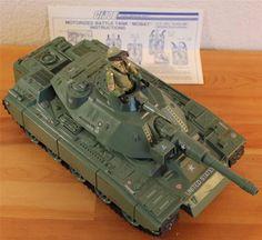 Vintage 1982 GI Joe MOBAT Motorized Battle Tank Vehicle + STEELER Action Figure | the G.I. Joe Collectionary