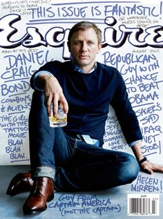 Daniel Craig - handwritten cover of Esquire