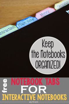 Keep your students and their interactive notebooks organized with these free resources! This post has FREE table of contents templates, notebook tabs, and tub labels. These will definitely help keep interactive notebooks organized and efficient. Interactive Student Notebooks, Science Notebooks, Interactive Learning, Math Notebooks, Notebook Organisation, Notebook Labels, Teacher Organization, Social Studies Notebook, Math Journals