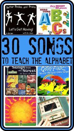 30 songs to teach the alphabet!