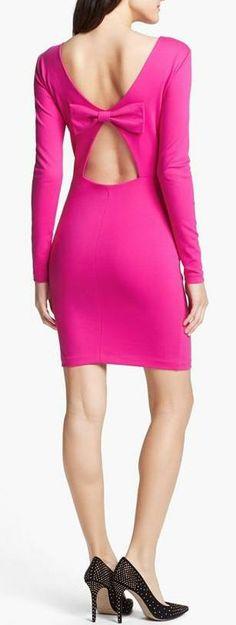 Amanda Uprichard Cutout Back Ponte Sheath Dress..can you say adorable!  And it's pink!!!!