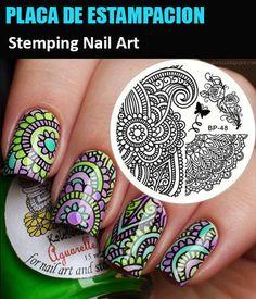Stamping Nail Art PLACA DE ESTAMPACION de Uñas Plantilla de sellos