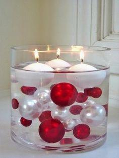 bougies flottantes idée déco porte-bougie en verre design table de noël
