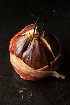 Fig wrapped in bacon
