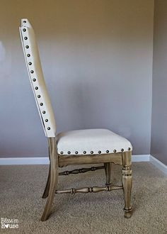 Bless'er House | Restoration Hardware Knock Off No Sew Dining Chairs