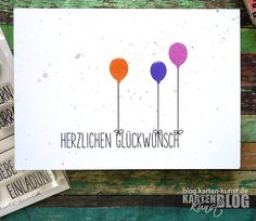 Karten-Kunst » Glückwunsch-Ballons
