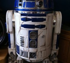 How To Make a R2D2 Low Cost Full Size Scratch Built - includes video, material list and instructions.