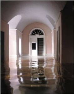 The grotto is lit by light that is refracted through the water frYou can find Water aesthetic and more on our website.The grot. Yellow Hallway, Water Aesthetic, Architecture Details, Aesthetic Pictures, Contemporary, House Styles, Photography, Image, Design