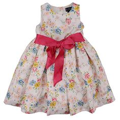 Chaps White Multicolor Floral Theme Spring Dress for Girls - Size 4 Chaps http://www.amazon.com/dp/B00IKFQ09W/ref=cm_sw_r_pi_dp_lyUOvb1QF6ZRR