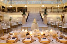 Gerber and Scarpelli Photography. Liven It Up Events. Vale of Enna flowers. The Rookery. White and Gold. Centerpiece. Chicago Wedding.