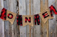 Lumberjack Banner for High Chair First Birthday by themoderndaisy