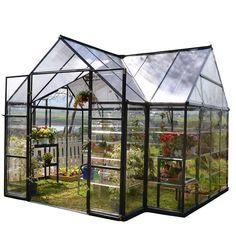 Palram Victory Orangery 10 ft. x 12 ft. Garden Chalet Greenhouse-702422 - The Home Depot