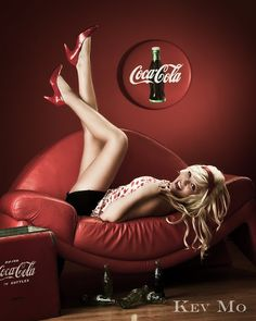 ❤ Girls on #biertjedrinken - Powered by BiertjeDrinken.nl #girl #coke Coca Cola pinup girl by Kev Mo, Pin Up Photographer