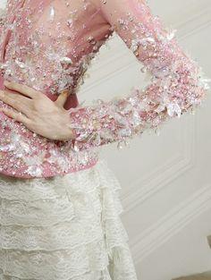 lace flowers chiffon organza silk pink white ivory