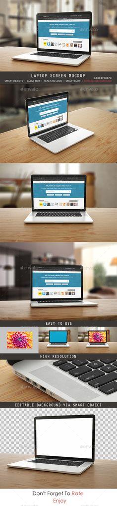 Laptop Screen MockUp #design Download: http://graphicriver.net/item/laptop-screen-mock-up-/11305550?ref=ksioks