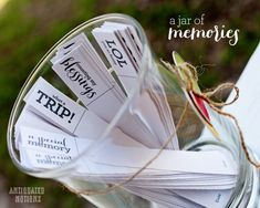 Jar of Memories | neat way to document your families memories each year plus a free download!