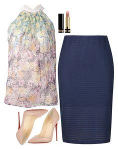 """Rachel Zane Inspired Outfit"" by daniellakresovic ❤ liked on Polyvore featuring Nina Ricci, Gucci, Ally Fashion and Christian Louboutin"