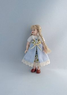 """Wearable dollhouse dress for 1/12 Heidi Ott 4"""" child doll. Price contains shipping. by TuulasBoutique on Etsy"""