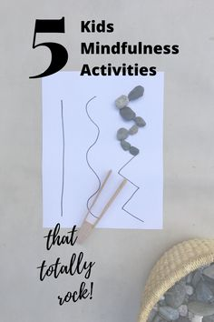 Have some rocks? Enjoy these mess and stress free activities to help practice mindfulness with your kids! Mindful Activities For Kids, Kindergarten Art Activities, Brain Activities, Montessori Activities, Creative Activities, Craft Activities For Kids, Preschool Activities, Teaching Mindfulness, Mindfulness For Kids