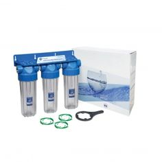 "Sistem de filtrare Triplex 10"" in 3 etape Aquafilter FHPRCLx-B-TRIPLE"