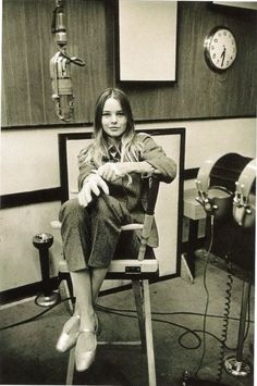 Michelle Phillips of The Mamas and The Papas in the studio, 1967.
