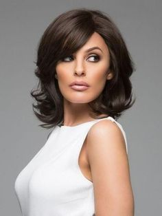 hair lengths for face shape Bob Wigs,Fashionable Wavy Black Shoulder Length Bob Wigs - Wigsis Medium Hair Cuts, Short Hair Cuts, Medium Hair Styles, Haircut Medium, Medium Layered Haircuts, Hair Layers Medium, Medium Length Layered Hair, Hairstyles For Medium Length Hair With Layers, Medium Length Haircuts