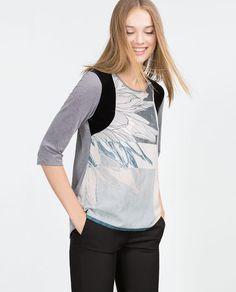 Image 3 of FLOWER T-SHIRT from Zara