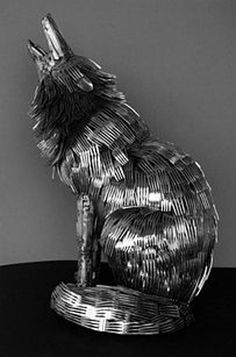 Gary Howe_Cutlery animal sculpture |